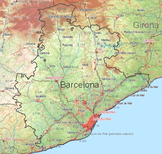 Cities and cartrip vacation to Barcelona and Girona – Tourist Map of Barcelona