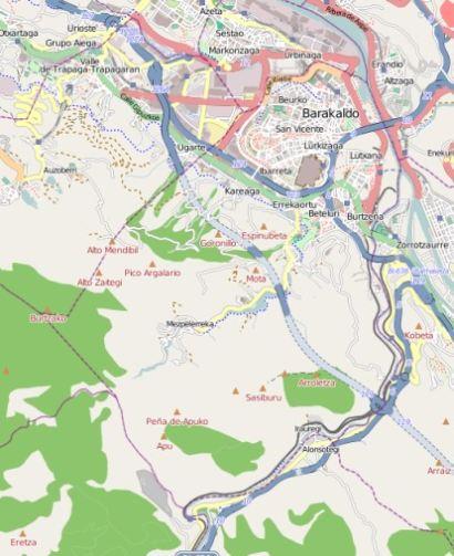 Barakaldo Province Vizcaya Basque Country Spain What To Do - Barakaldo map