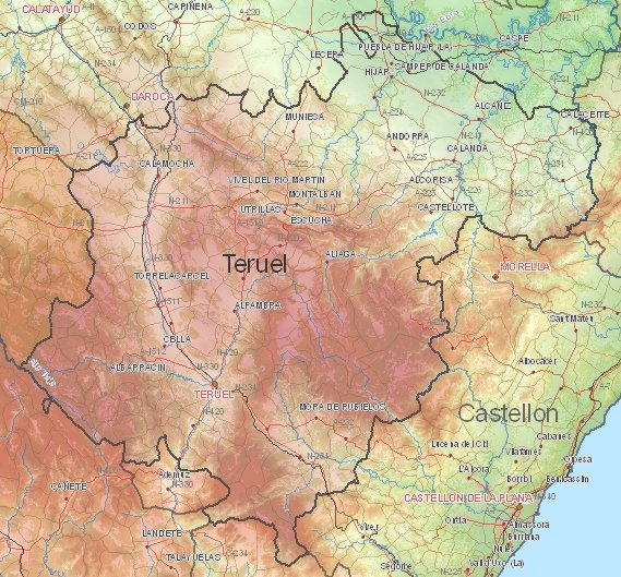 Tourist map of Teruel