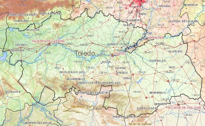 MAP OF TOLEDO SPAIN Imsa Kolese – Tourist Map Of Cordoba Spain